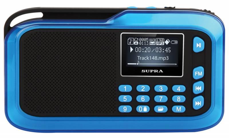 Аудиомагнитола Supra PAS-3909 синий (отремонтированный)