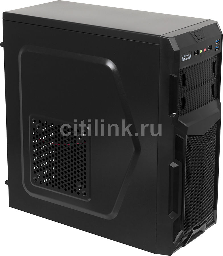 Корпус ATX ACCORD A-34B, Midi-Tower, без БП,  черный