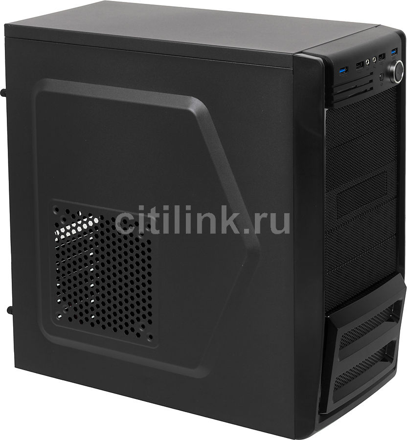 Корпус ATX ACCORD P-46B, Midi-Tower, без БП, черный