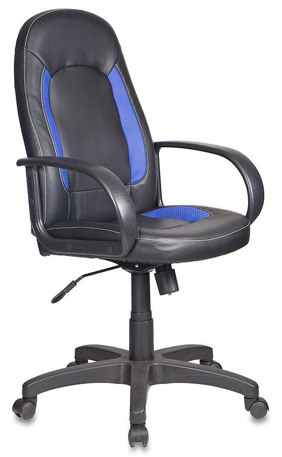 Кресло руководителя БЮРОКРАТ CH-826, на колесиках, искусственная кожа [ch-826/b+bl]