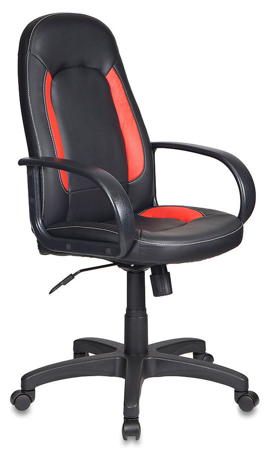 Кресло руководителя БЮРОКРАТ CH-826, на колесиках, искусственная кожа [ch-826/b+r]