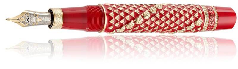 Ручка перьевая Visconti Golden Man корпус серебро 925пр кр лак позолота перо палл М (VS-706-03M) [70603m]