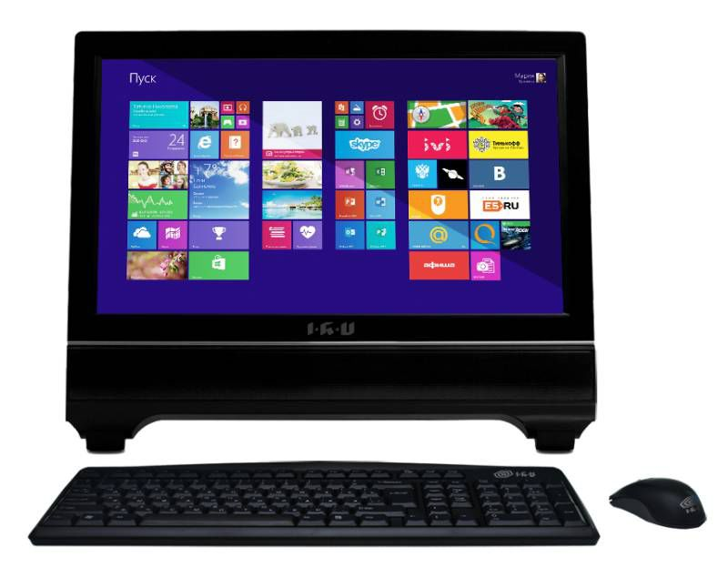 Моноблок IRU 309, Intel Core i3 3240, 4Гб, 500Гб, Intel HD Graphics 2500, DVD-RW, Windows 8.1, черный