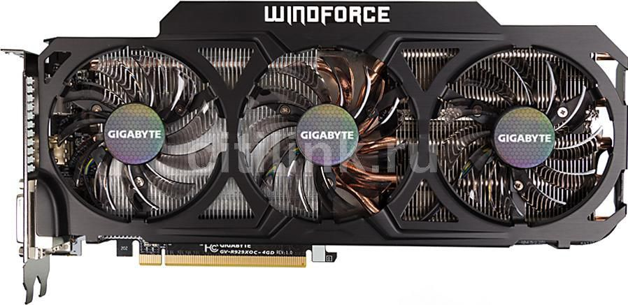 Видеокарта Gigabyte PCI-E ATI GV-R929XOC-4GD R9 290X 4Gb 512b GDDR5 1040/5000 DVI* (отремонтированный)