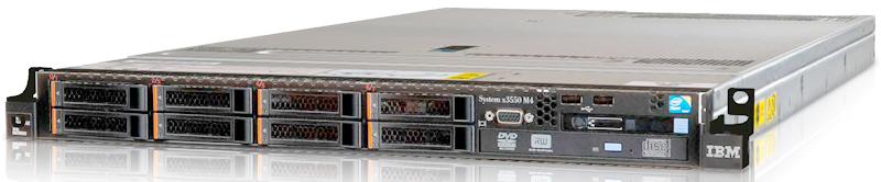 Сервер IBM ExpSell x3550 M4, Xeon E5-2609v2 2.5GHz 10M 4C /8GB/OB 2.5