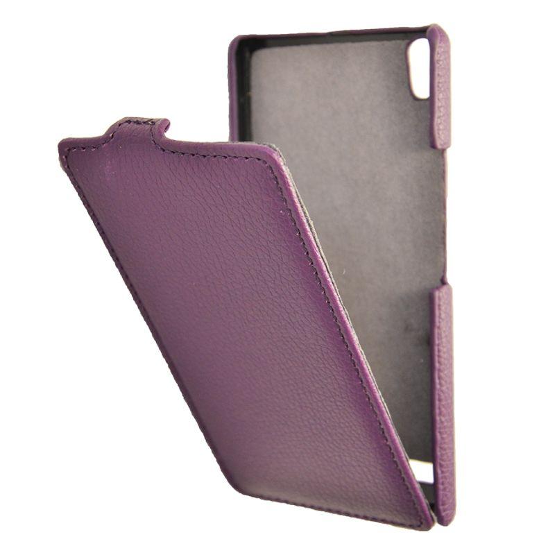 Чехол (флип-кейс) ARMOR-X flip full, для Huawei Ascend P6, пурпурный