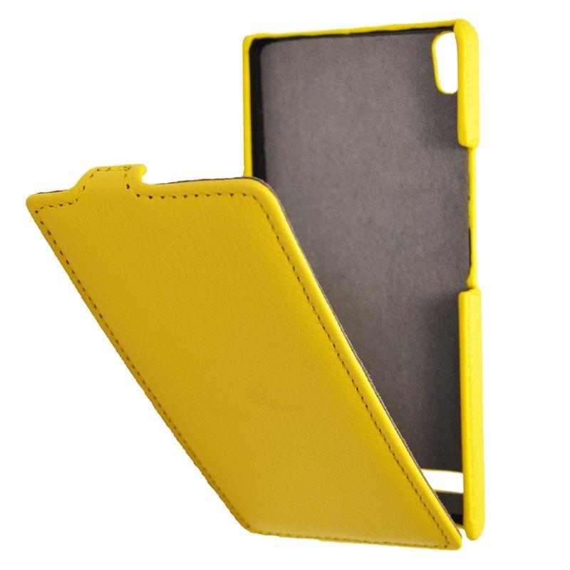 Чехол (флип-кейс) ARMOR-X flip full, для Huawei Ascend P6, желтый