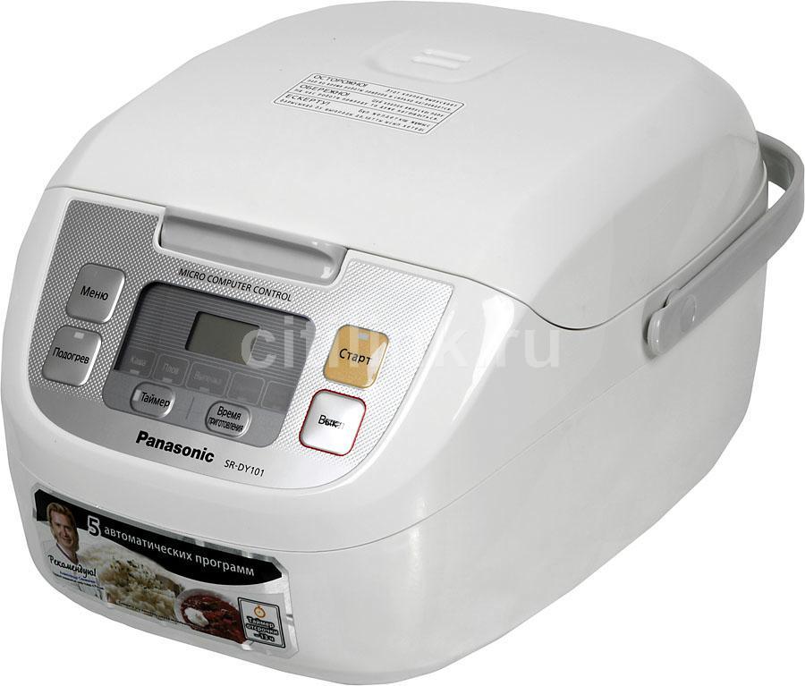 Мультиварка PANASONIC SR-DY101WTQ,  790Вт,   белый/серебристый