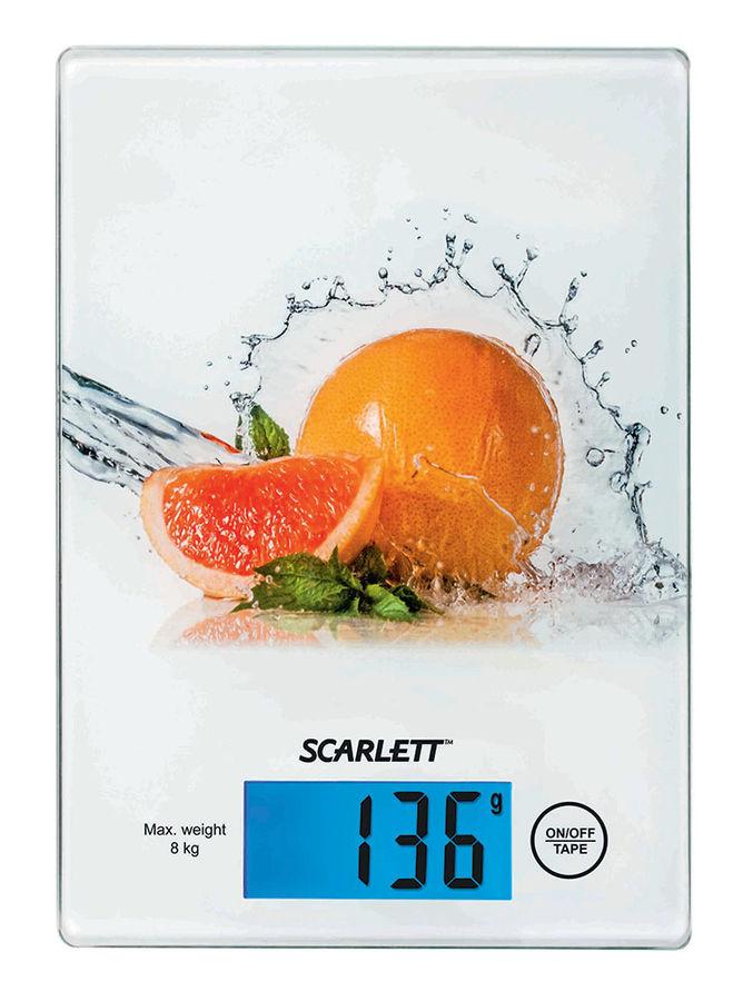 Весы кухонные SCARLETT SC-1217,  белый/грейпфрут