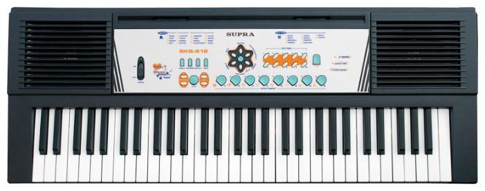 Синтезатор SUPRA SKB-616, 61, невзвешенная, полноразмерные, 8, черный