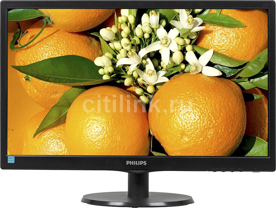 "Монитор ЖК PHILIPS 223V5LSB (10/62) 21.5"", черный"
