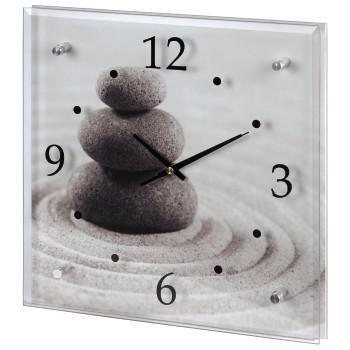 Настенные часы HAMA Stone H-113991, аналоговые,  серый