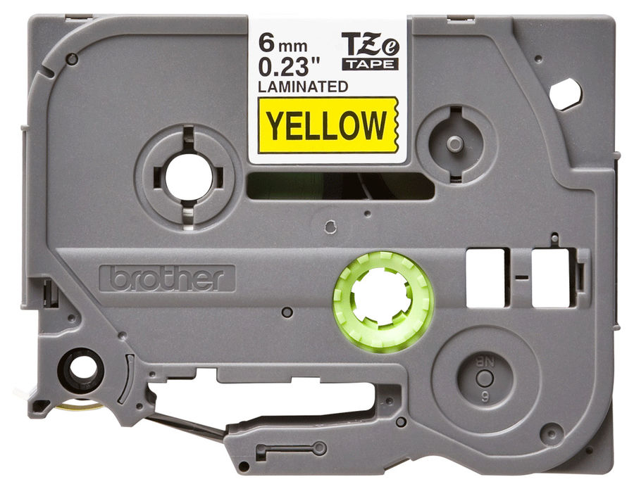 Лента ламинирования Brother TZe-611 для P-Touch 6мм x 8м черный шрифт на желтом фоне