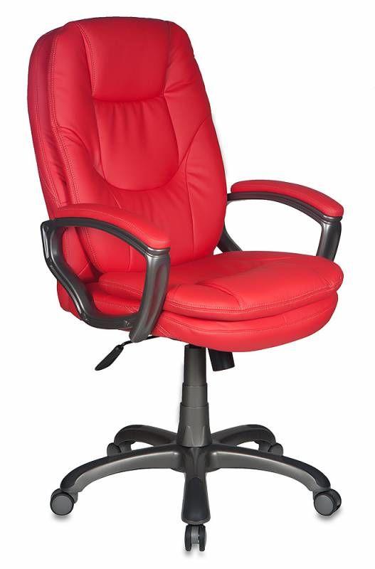 Кресло руководителя БЮРОКРАТ CH-868AXSN, на колесиках, искусственная кожа, красный [ch-868axsn/red]