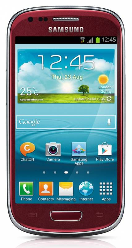 Смартфон SAMSUNG Galaxy S III mini VE GT-I8200  красный