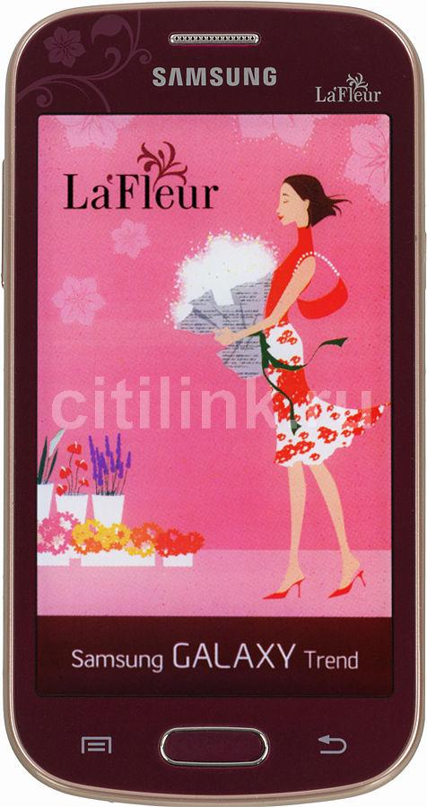 Смартфон SAMSUNG Galaxy Trend La Fleur GT-S7390  красный