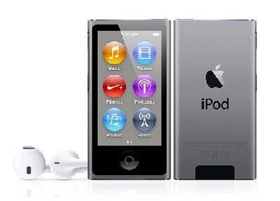 MP3 плеер APPLE iPod nano 7 flash 16Гб серый [me971ru/a]