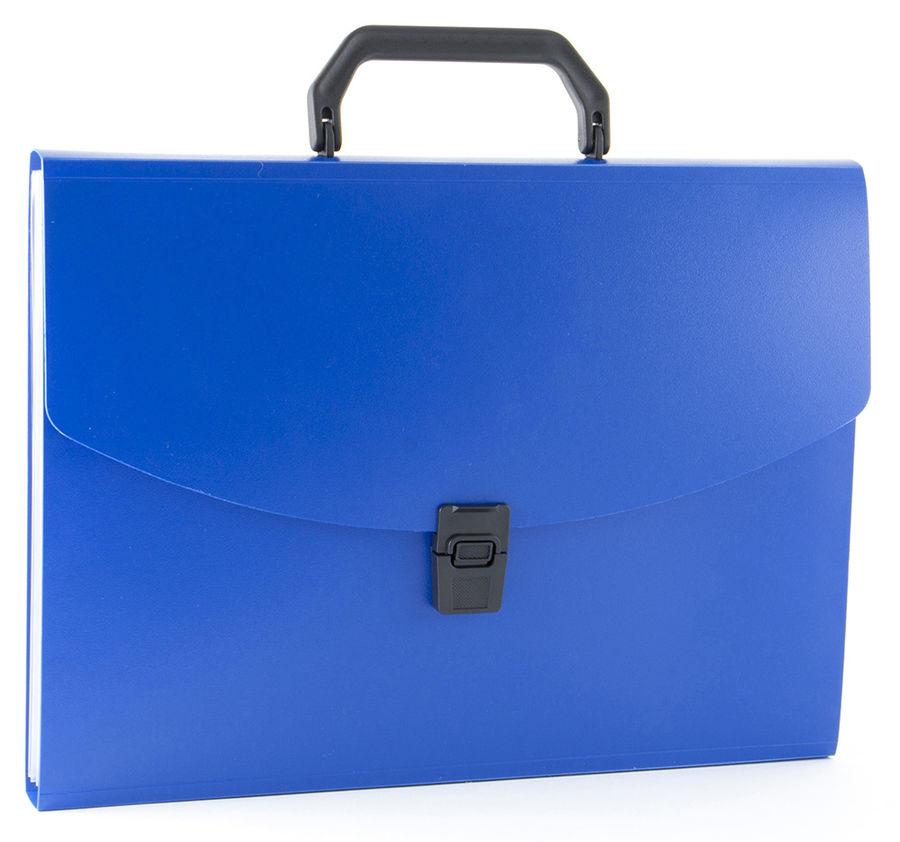Портфель Бюрократ -BPP6 6 отдел. A4 пластик 0.7мм ассорти