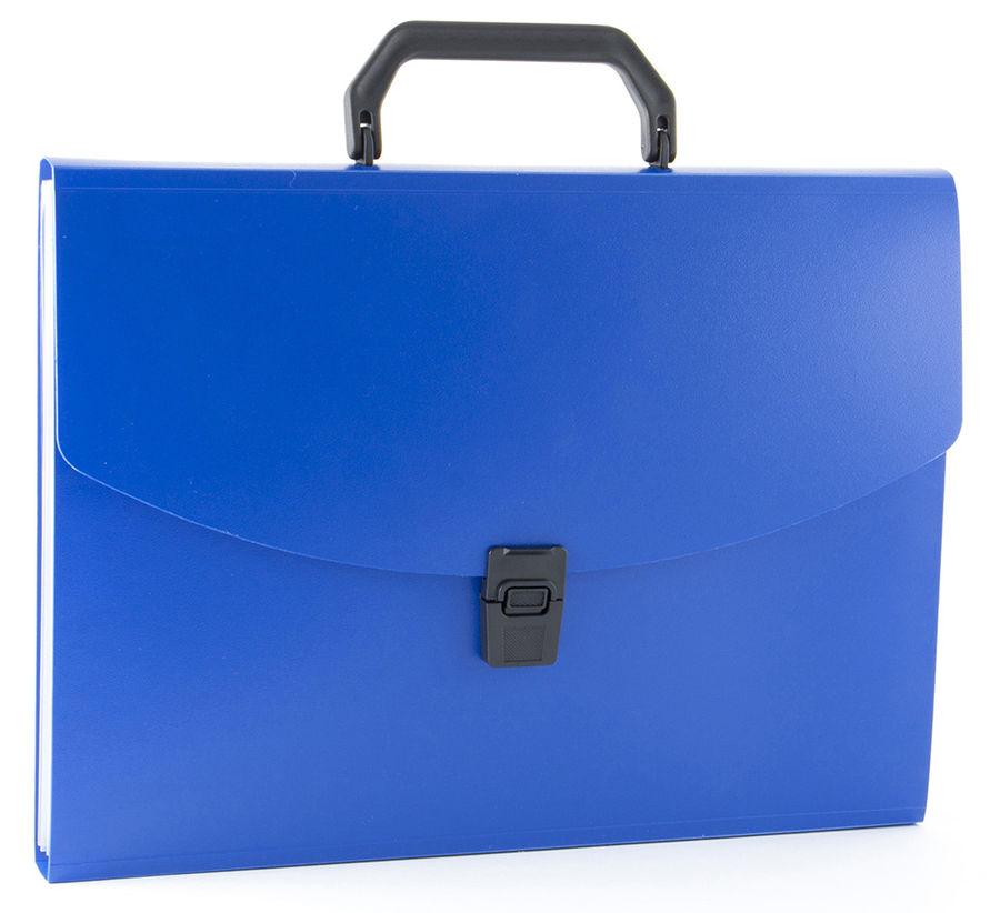 Портфель Бюрократ -BPP13 13 отдел. A4 пластик 0.7мм ассорти