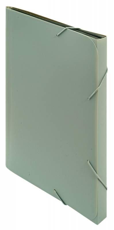 Портфель на резинке Бюрократ -BPR6GREY 6 отдел. A4 пластик 0.7мм серый