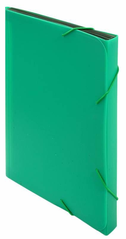 Портфель на резинке Бюрократ -BPR6GRN 6 отдел. A4 пластик 0.7мм зеленый