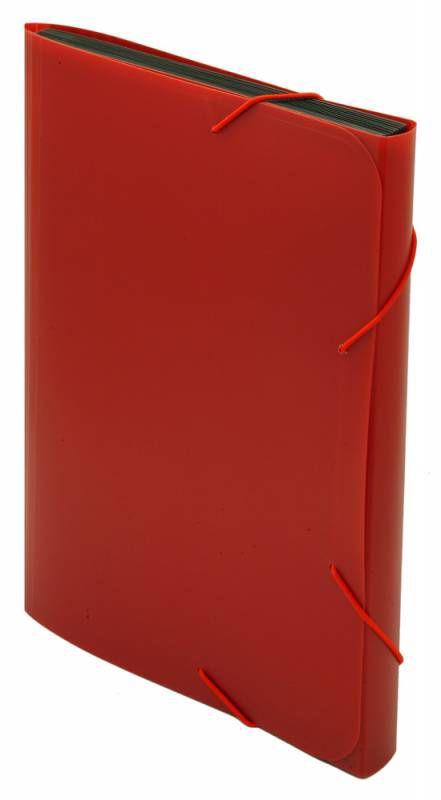 Папка на резинке Бюрократ -BPR6RED 6 отдел. A4 пластик 0.7мм красный