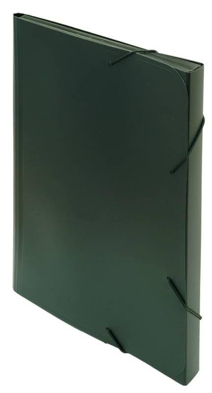 Папка на резинке Бюрократ -BPR13BLCK 13 отдел. A4 пластик 0.7мм черный