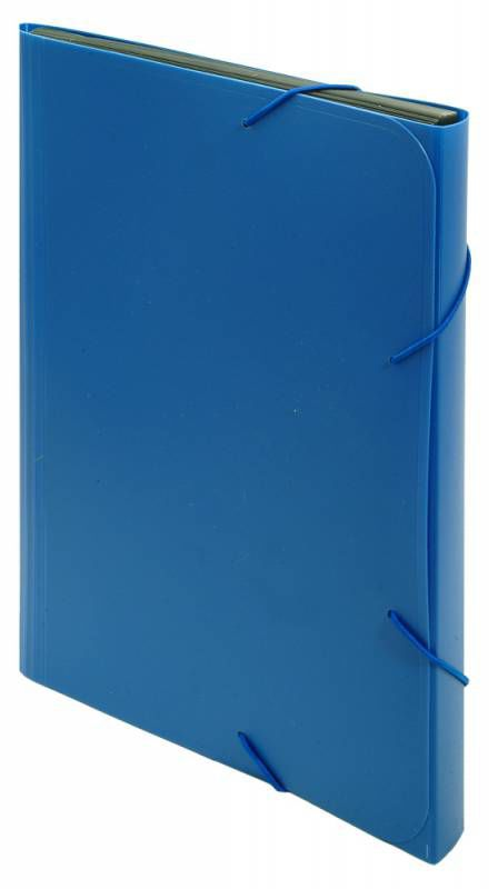 Папка на резинке Бюрократ -BPR13BLUE 13 отдел. A4 пластик 0.7мм синий