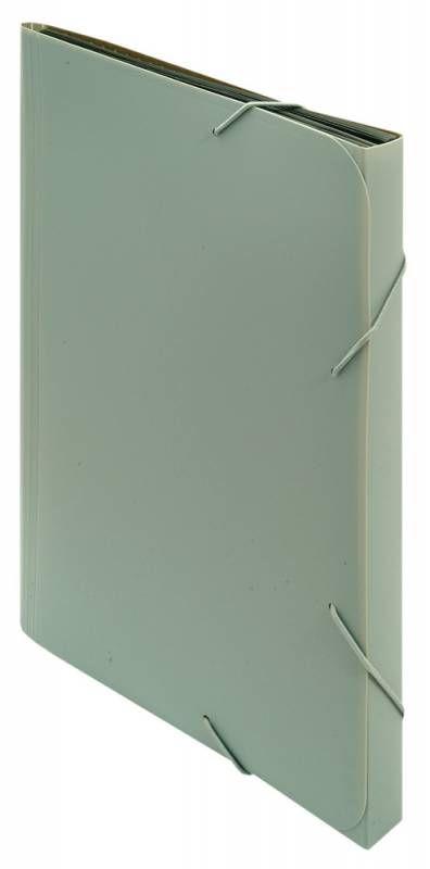 Портфель на резинке Бюрократ -BPR13GREY 13 отдел. A4 пластик 0.7мм серый