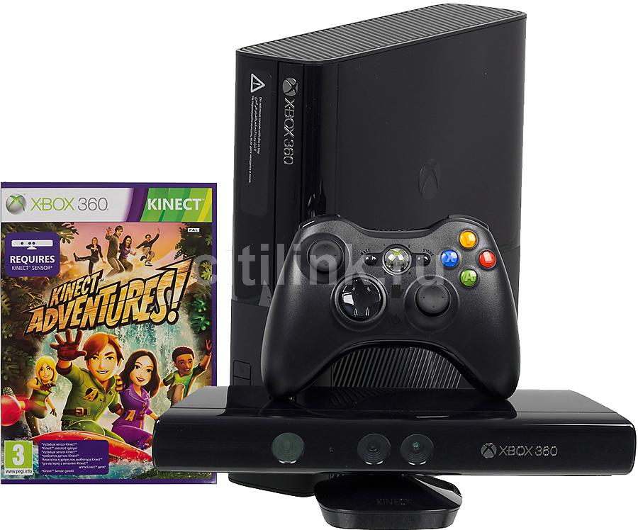 Игровая консоль MICROSOFT Xbox 360 E 5СX-00012, черный