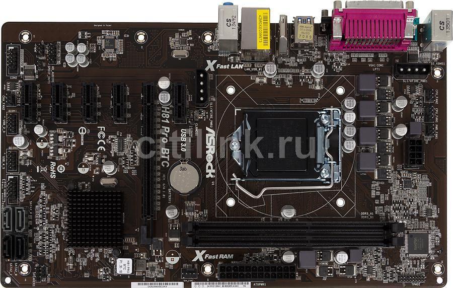 Asrock H81 Pro BTC R2.0 Carte mère Intel H81 ATX Socket LGA 1150 TTBE