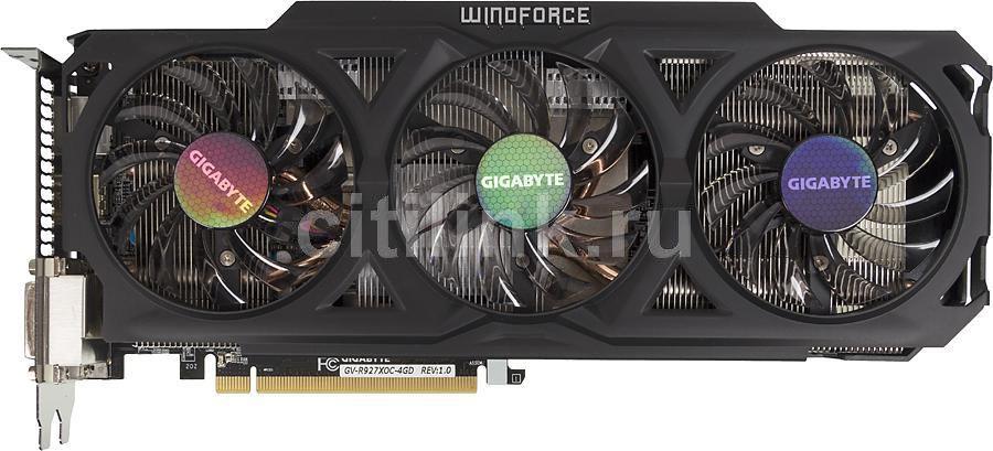 Видеокарта GIGABYTE Radeon R9 270X,  GV-R927XOC-4GD,  4Гб, GDDR5, OC,  Ret