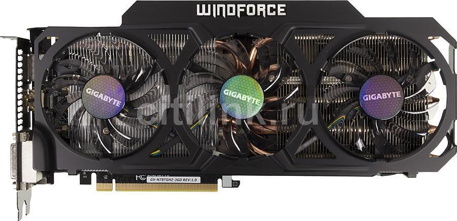 Видеокарта Gigabyte PCI-E NV GV-N78TGHz-3GD GTX780TI 3Gb 384b GDDR5 1150/7000 DVI* (отремонтированный)