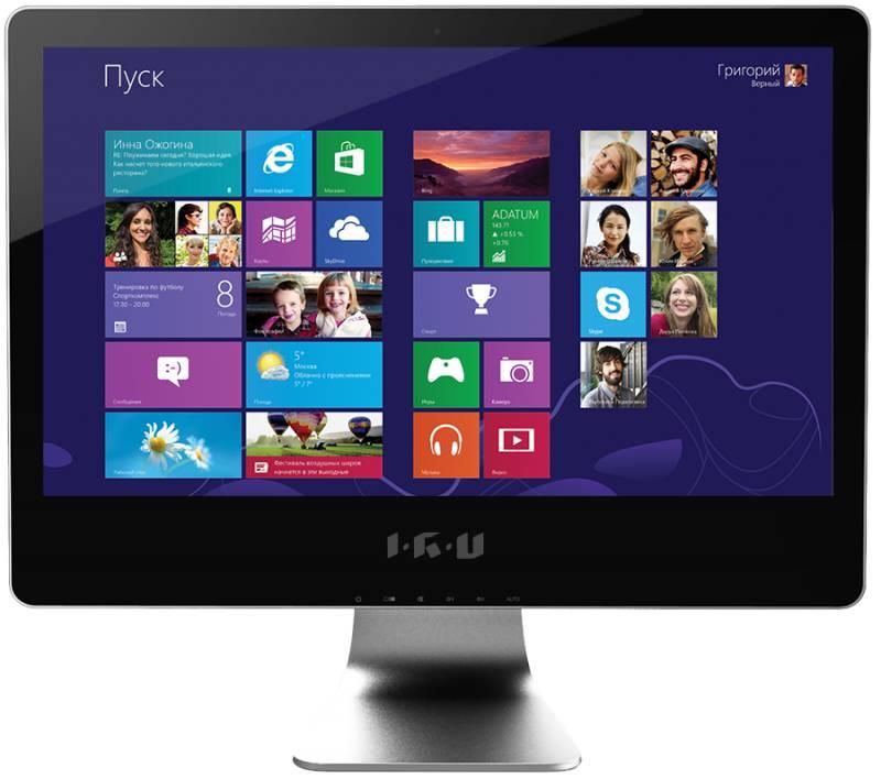 Моноблок IRU 505, Intel Pentium Dual-Core G2020, 4Гб, 1000Гб, nVIDIA GeForce GT630 - 1024 Мб, DVD-RW, Windows 7 Professional, черный