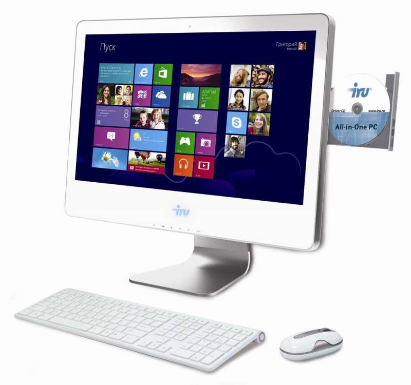 Моноблок IRU 308, Intel Pentium Dual-Core G2020, 4Гб, 500Гб, nVIDIA GeForce GT630 - 1024 Мб, DVD-RW, Windows 8, белый [877591]