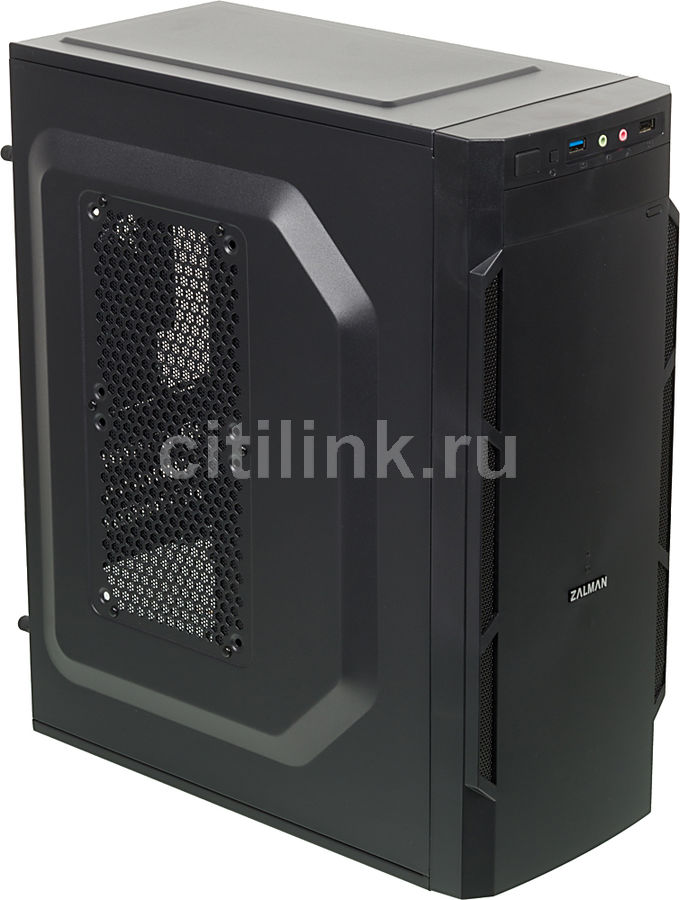 Корпус mATX ZALMAN ZM-T1 Plus, Mini-Tower, без БП,  черный