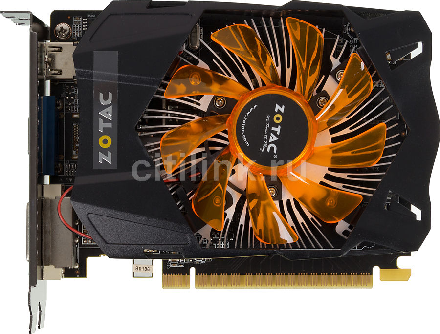 Видеокарта ZOTAC GeForce GTX 650 Synergy Edition,  ZT-61012-10B,  1Гб, GDDR5, OC,  oem