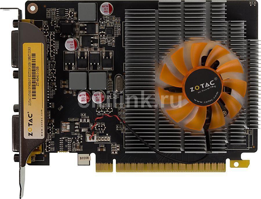Видеокарта ZOTAC GeForce GT 630,  2Гб, DDR3, oem [zt-60411-10b]