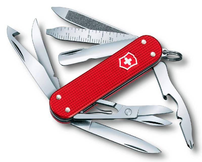 Нож перочинный Victorinox MiniChamp 0.6381.20 58мм алюминиевая рукоять красный