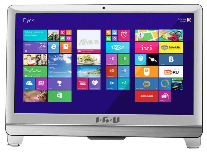 Моноблок IRU 309, Intel Core i3 3240, 4Гб, 500Гб, Intel HD Graphics, DVD-RW, Windows 7 Professional, белый