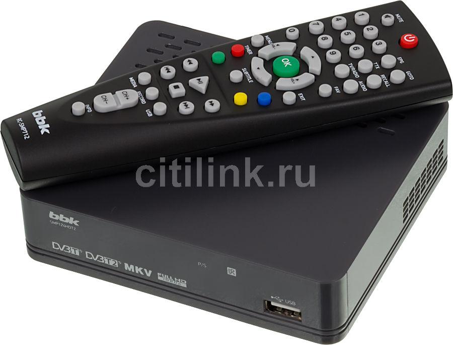 Ресивер DVB-T2 BBK SMP124HDT2,  темно-серый [(dvb-t2) dvb-t smp124hdt2 т-с]