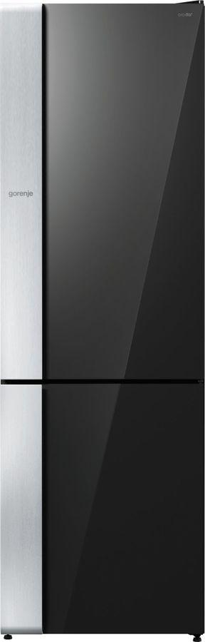 Холодильник GORENJE NRK-ORA 62 E,  двухкамерный,  черное стекло [nrkora62e]