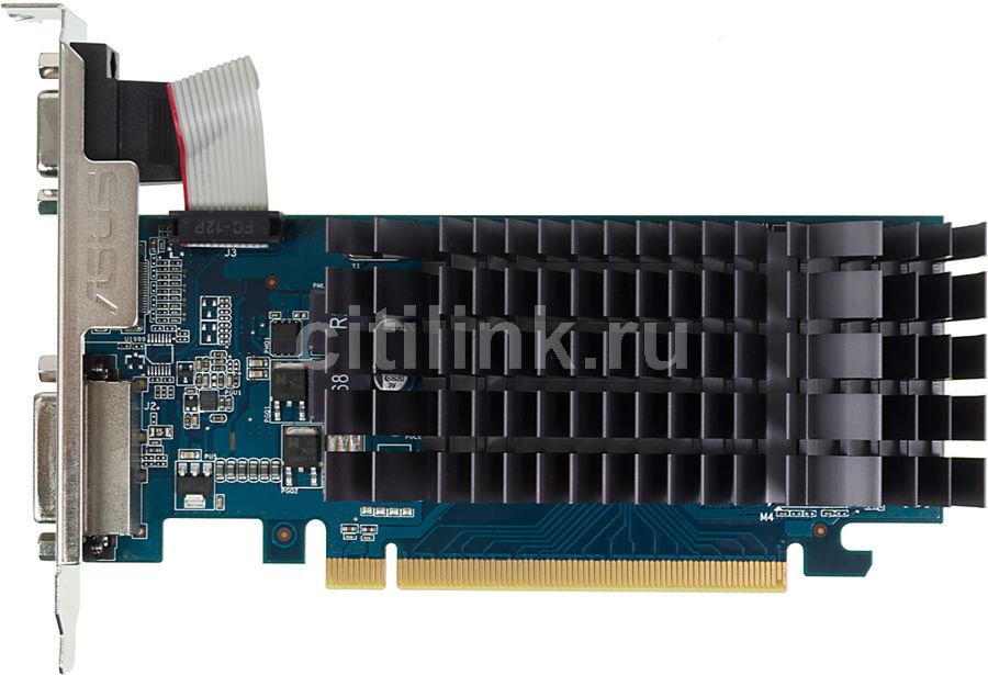 Видеокарта ASUS nVidia  GeForce 210 ,  210-SL-1GD3-BRK,  1Гб, DDR3, Low Profile,  Ret
