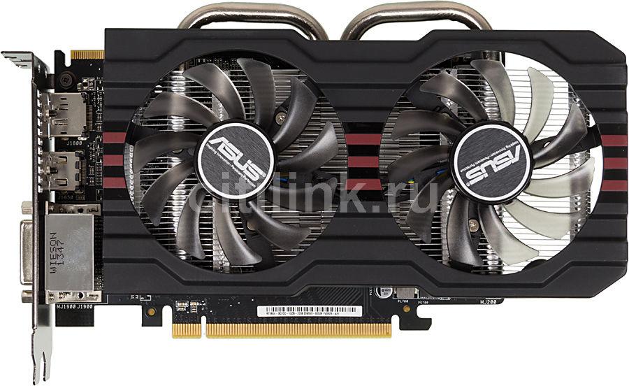 Видеокарта ASUS Radeon R7 260X,  R7260X-DC2OC-1GD5,  1Гб, GDDR5, OC,  Ret