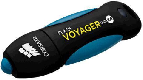 Флешка USB CORSAIR Voyager CMFVY3A-32GB 32Гб, USB3.0, черный и синий