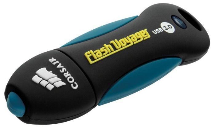 Флешка USB CORSAIR Voyager 16Гб, USB3.0, черный и синий [cmfvy3a-16gb]