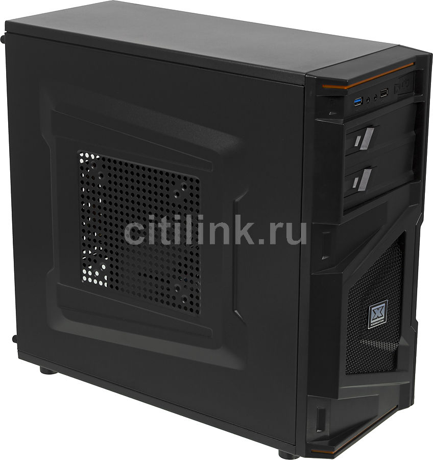 Корпус ATX XIGMATEK Recon, Midi-Tower, без БП,  черный
