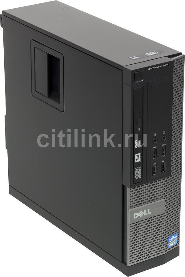 Компьютер  DELL Optiplex 7010 SF,  Intel  Core i5  3470,  DDR3 4Гб, 500Гб,  Intel HD Graphics 2500,  DVD-RW,  Windows 7 Professional,  черный и серебристый [210-39511]