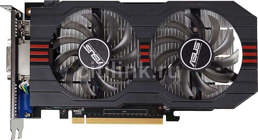 Видеокарта ASUS GeForce GTX 750Ti,  GTX750TI-OC-2GD5,  2Гб, GDDR5, OC,  Ret