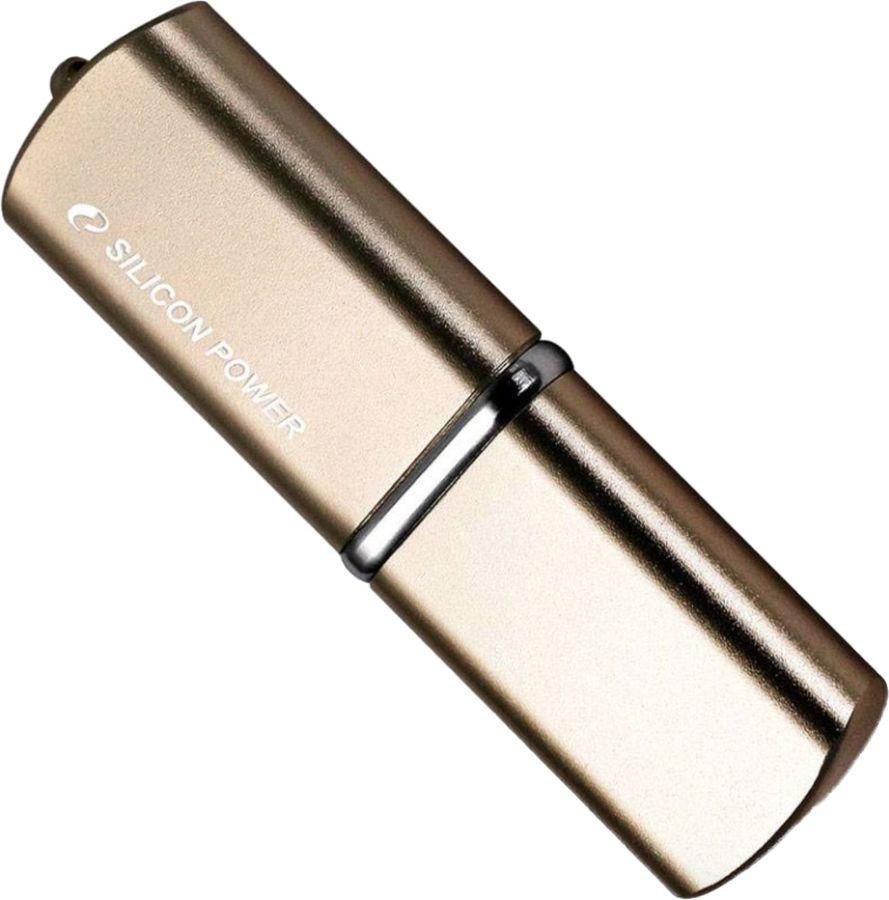 Флешка USB SILICON POWER LuxMini 720 64Гб, USB2.0, бронзовый [sp064gbuf2720v1z]